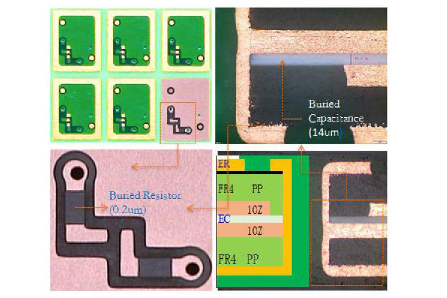 Micro-mic PCB丨Buried capacitance,buried resistor board,embedded capacitor pcb