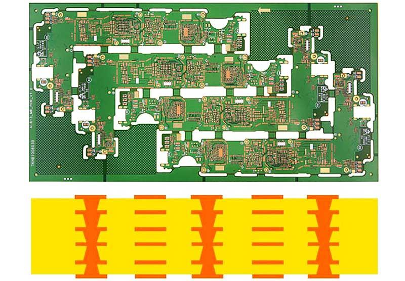 Rocket PCB stagger double layer pcb-1