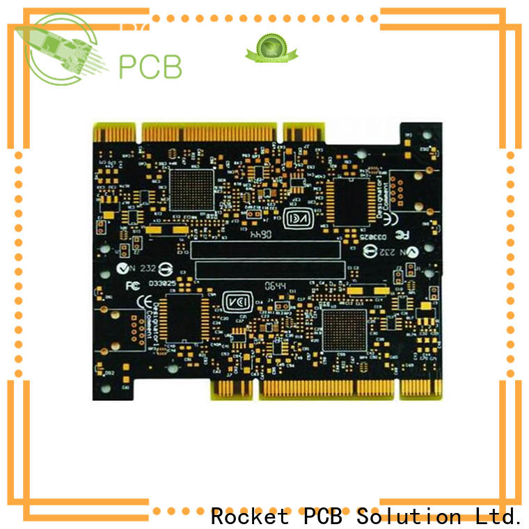 Rocket PCB optional gold column plating for import