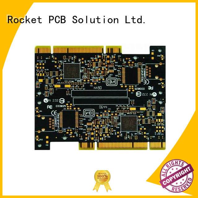 Rocket PCB optional golden finger pcb edge for wholesale