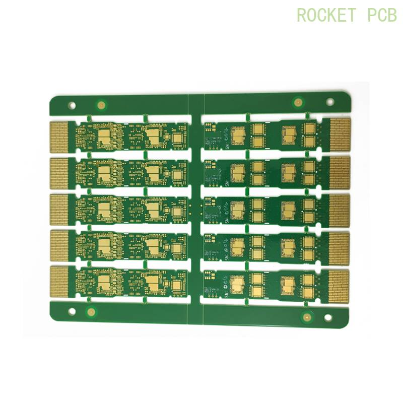 Gold finger pcb plated gold pcb staged finger PCB long-short PCB fabrication