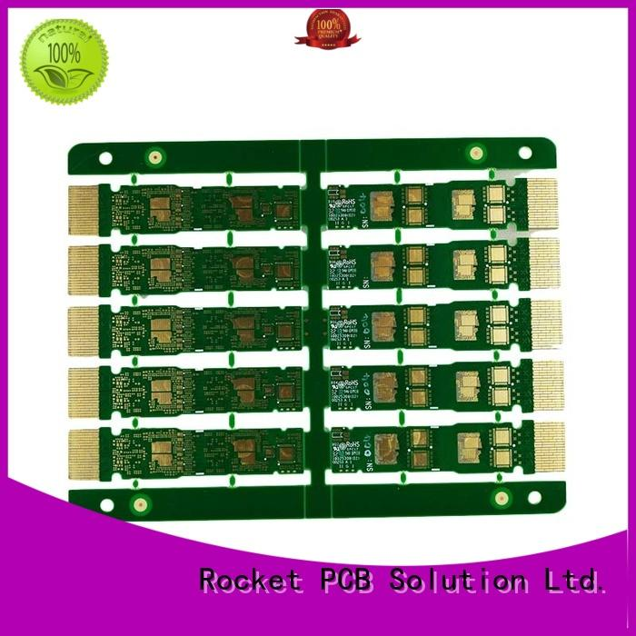 Rocket PCB at discount gold finger pcb edge for import