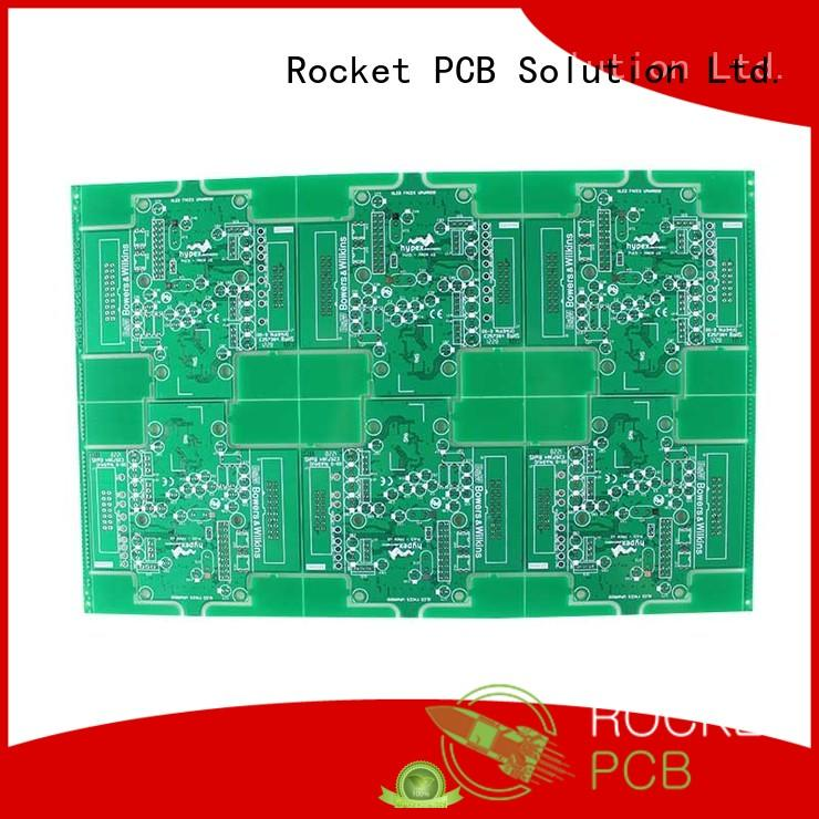 Rocket PCB custom double sided printed circuit board turn around electronics