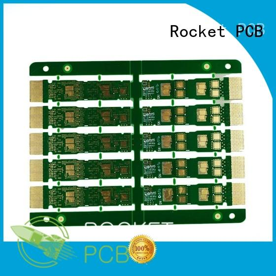 optional gold column plated wholesale Rocket PCB