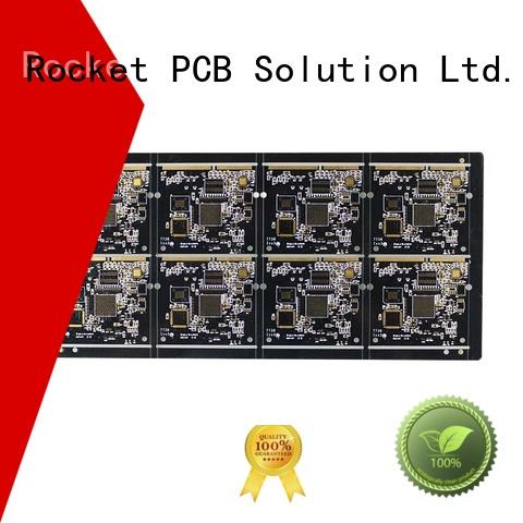 Rocket PCB highly-rated gold finger pcb staged for import
